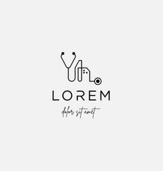 Medical city logo design icon sign vector