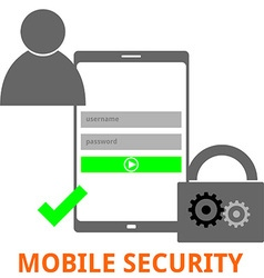 mobile security vector image