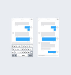 Mobile ui kit messenger vector