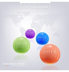 Modern timeline infographic design with place for vector image