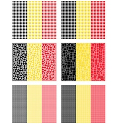 Mosaic Belgium flag set vector