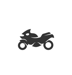 Motorcycle icon isolated on white background vector image