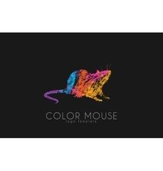 mouse logo color little creative vector image