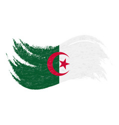 national flag of algeria designed using brush vector image