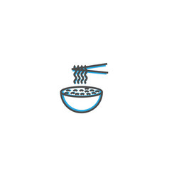noodles icon design gastronomy icon vector image