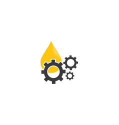 oil and gear logo icon vector image