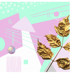 Original abstract modern background with gold leaf vector