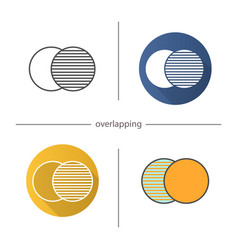 Overlapping symbol icon vector