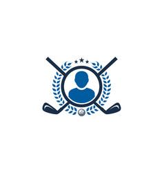 people golf logo icon design vector image