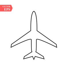 plane line icon on white background eps10 vector image
