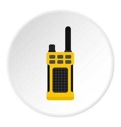 Portable radio transmitter icon circle vector