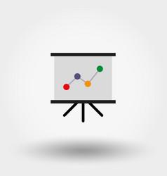 presentation board with diagram vector image