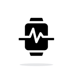 Pulse on smart watch simple icon on white vector image