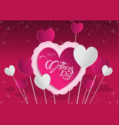 purple greeting card happy mothers day vector image