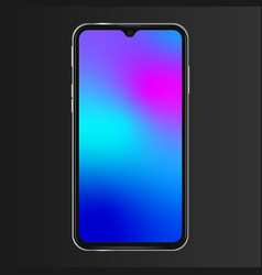 Realistic phone screen template no notch front vector