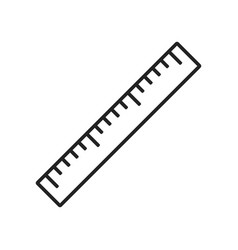 Ruler line style icon vector