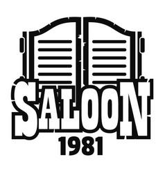Saloon texas logo simple style vector