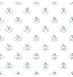 seafood pattern seamless vector image