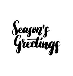 Season greetings lettering vector