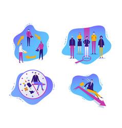 set business vector image