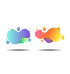 set of gradient abstract banners with flowing vector image
