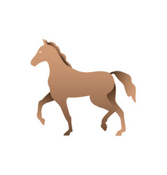 Silhouette of a horse horse side view profile vector
