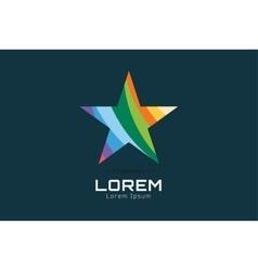 Star logo icon Leader boss winner rank vector