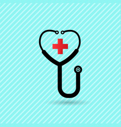 stethoscope flat icon and is related to health vector image