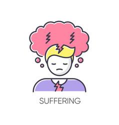 Suffering rgb color icon vector