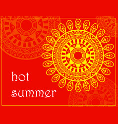 Sun sentagle background vector