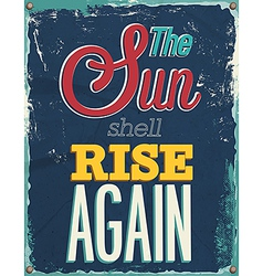 Sun shell rise again vector