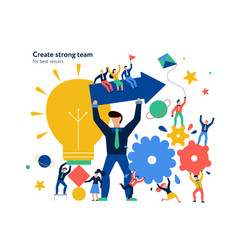 Teamwork page design vector