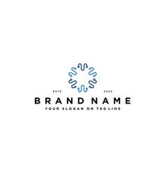 Tech logo design concept vector