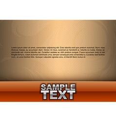 template orange stripe text vector image