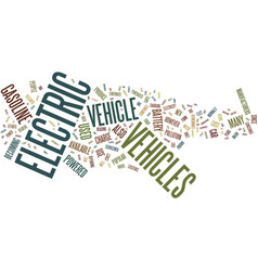 The benefits of electric vehicles text background vector
