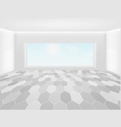 Tile floor background vector