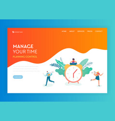 Time management business strategy solutions page vector