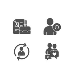 vacancy security and person info icons dating vector image