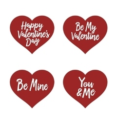 Valentine day typography badges set All lovers vector