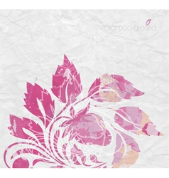 Watercolor background Floral composition vector image