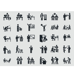 Weekdays office worker Stick figure vector image
