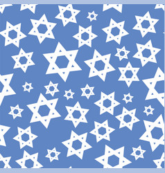 white mosaic stars of david seamless pattern vector image