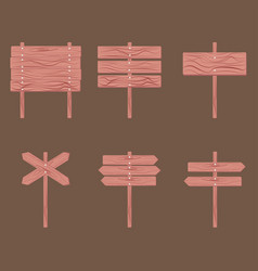 Wooden signboards arrow vector