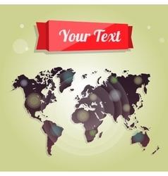 World map for advertising website design vector