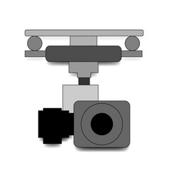 action camera in waterproof box isolated on white vector image