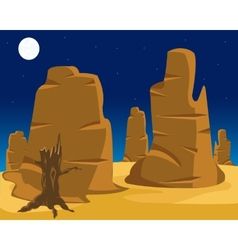landscape of wild west vector image