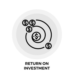 Return on Investment Line Icon vector image