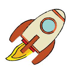 rocket transport space vehicle vector image