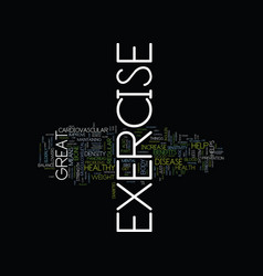 the benefits of exercise text background word vector image