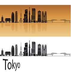 tokyo v3 skyline vector image vector image
